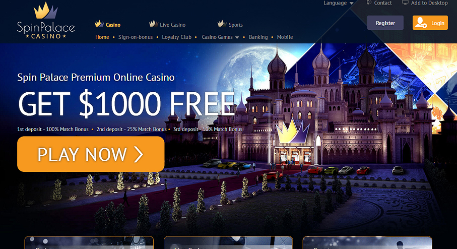 Spin palace casino on line
